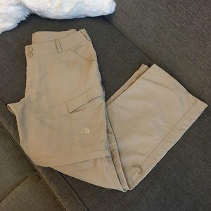 North Face convertible pants/ shorts zip-off legs